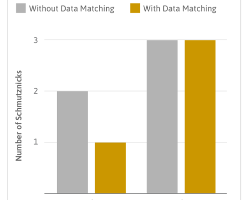 Matching name data in a data warehouse chart