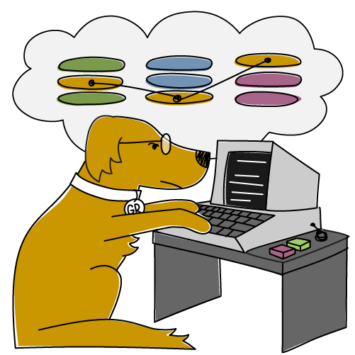 Data consulting dog